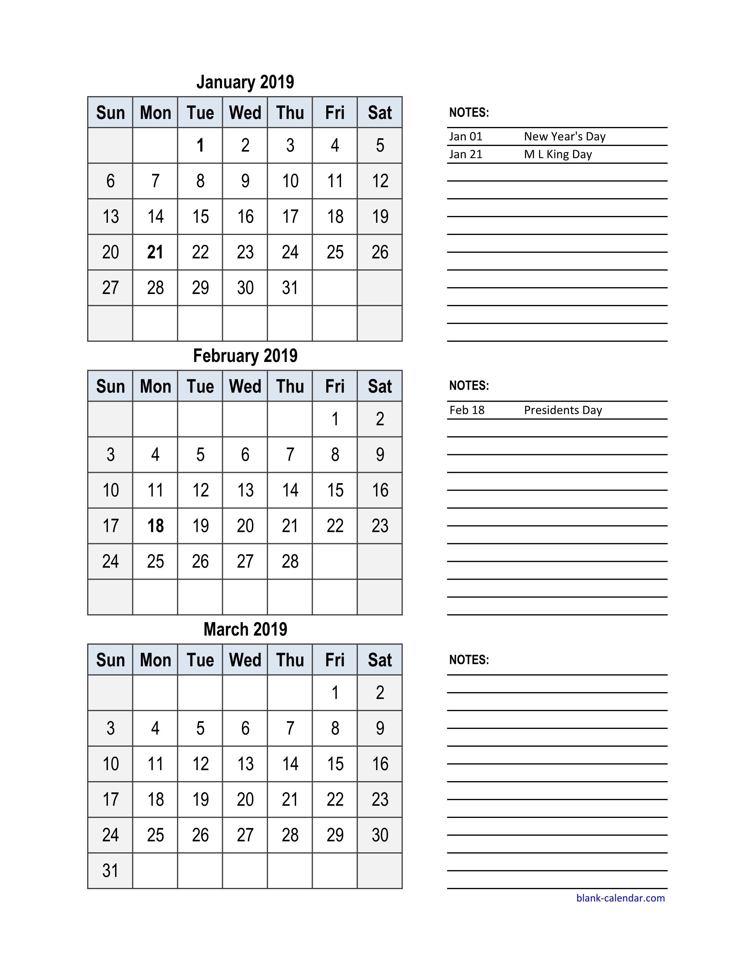 Free Download 2019 Excel Calendar, 3 Months In One Excel Spreadsheet Calendar 2019 Excel Monthly