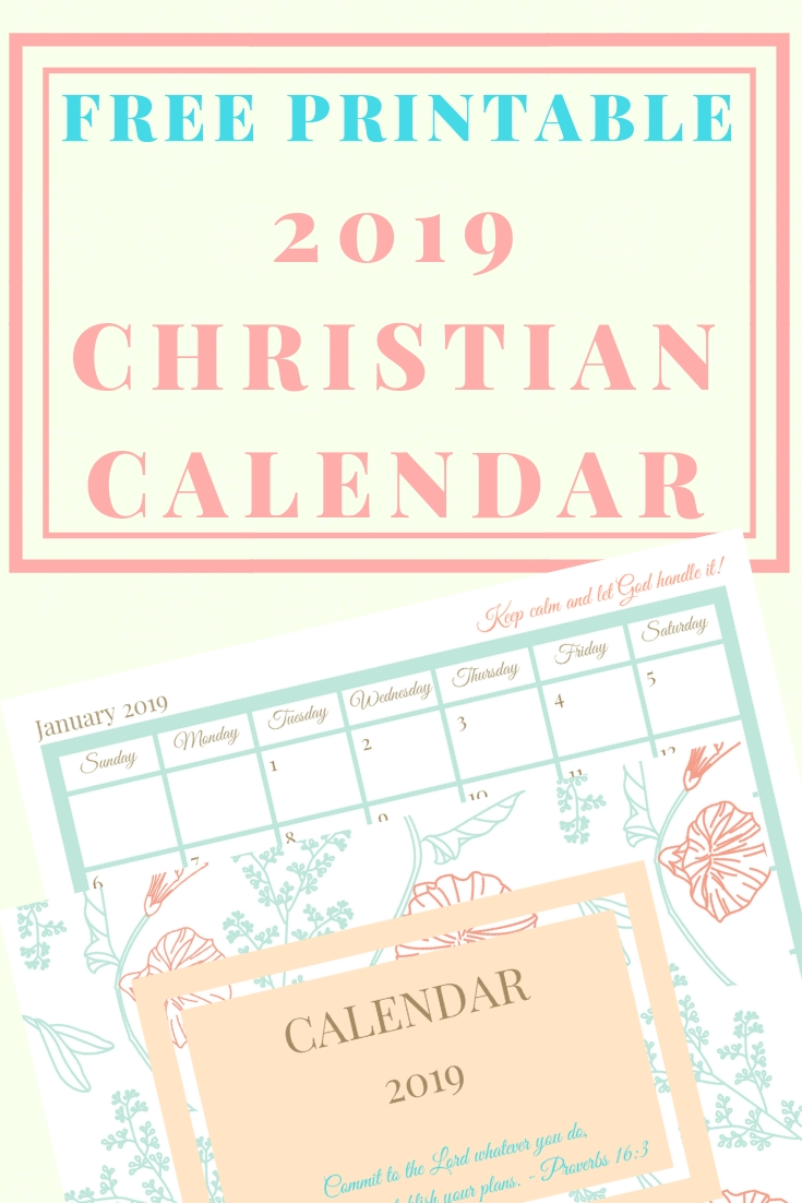 Free Printable 2019 Christian Calendar | Blogging For Jesus Calendar 2019 Christian
