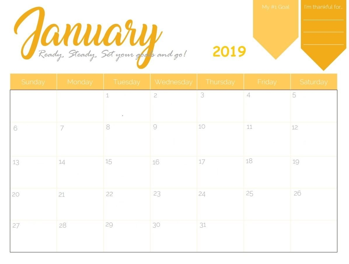 Free Printable 2019 January Calendar | Calendar 2018 | 2019 Calendar Calendar 2019 Template Free