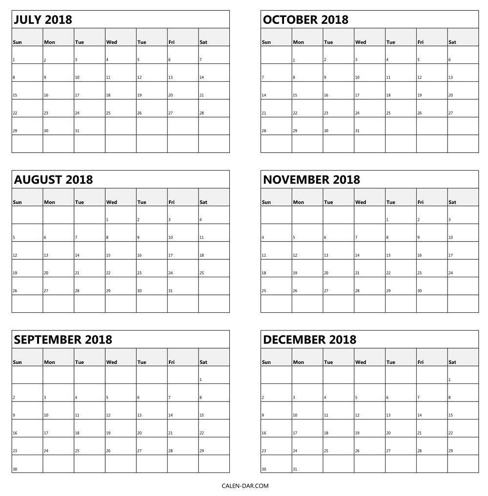 Free Printable 6 Month Calendar 2019   Blank Calendar Template 6 Month Calendar Template 2019