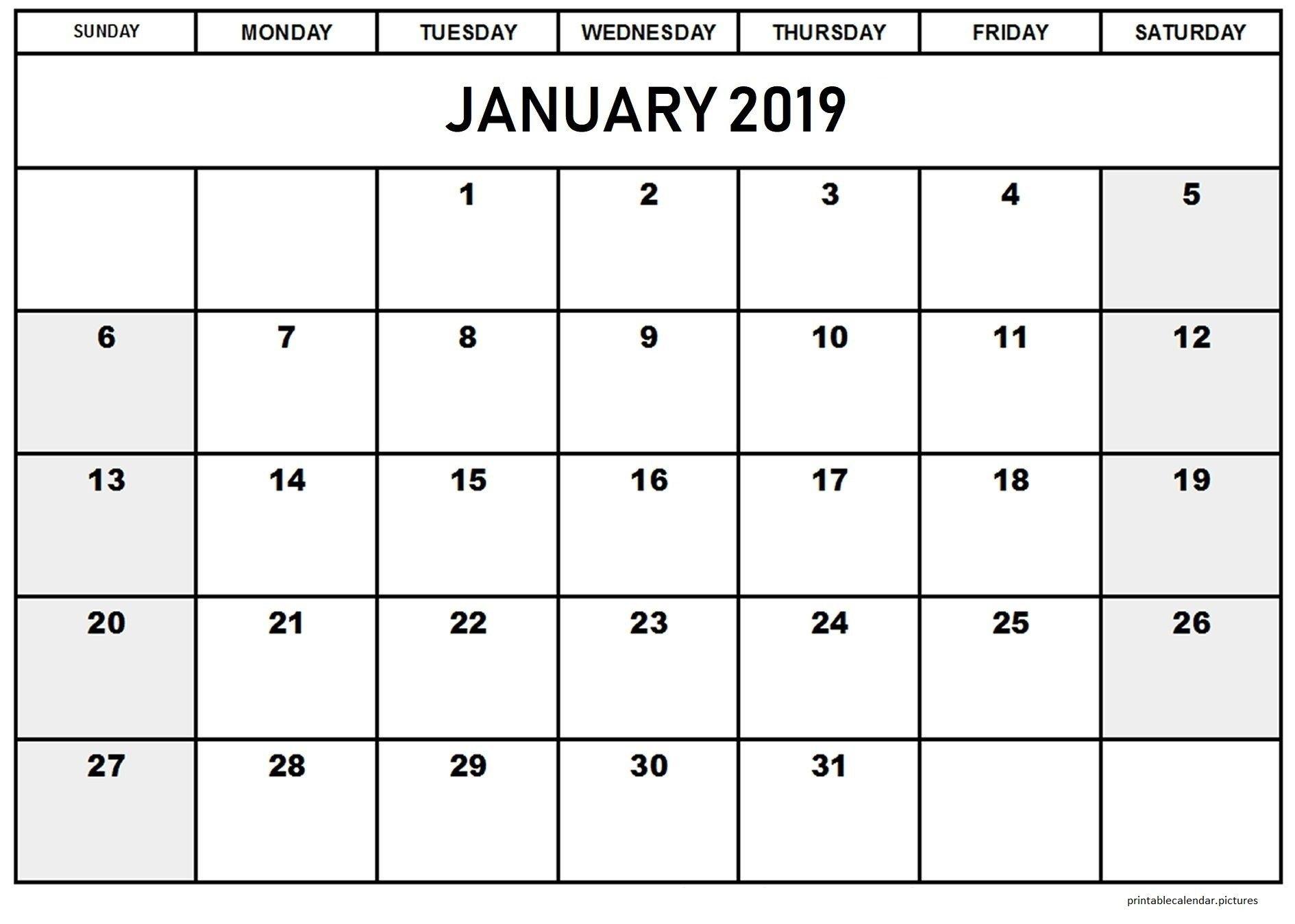 Free Printable Calendar Templates January 2019 | Google Docs : A Calendar 2019 Google