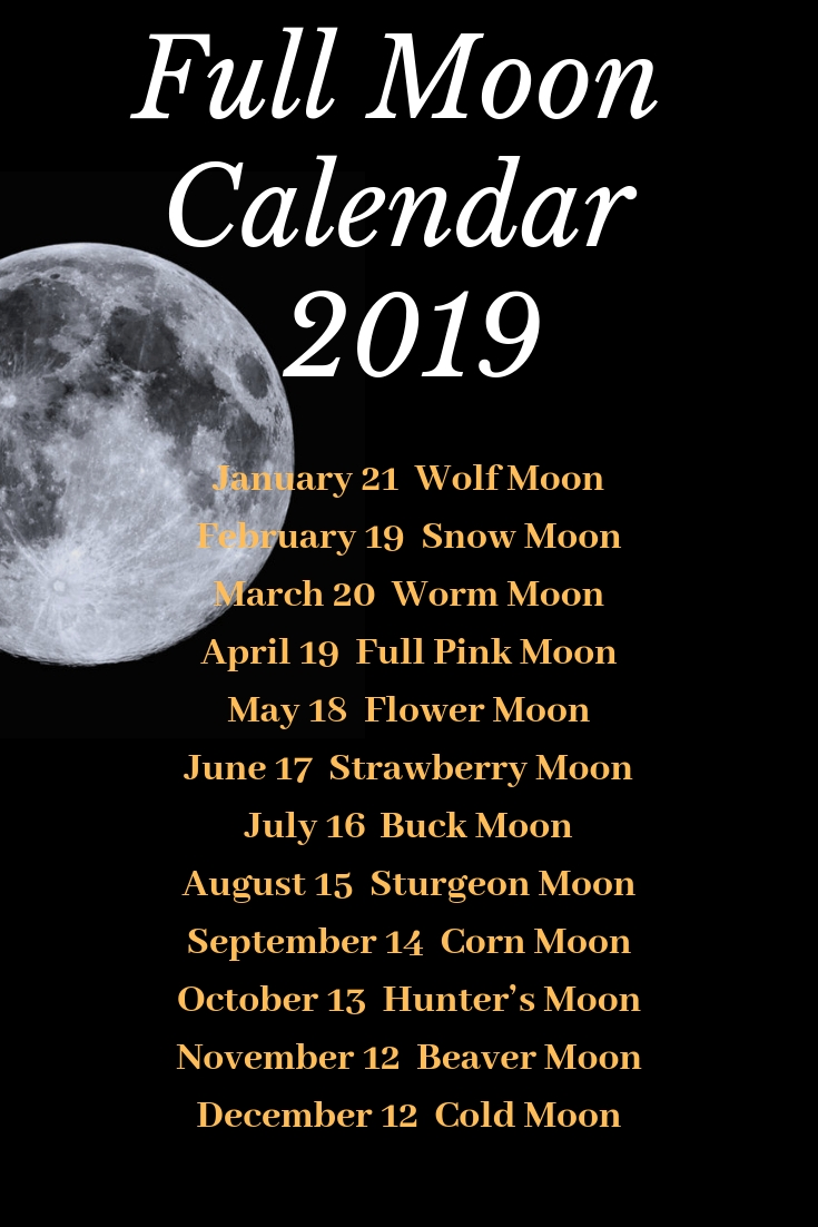 Full Moon Calendar 2019!mad Witch Supplies | #witchvibes | Moon Calendar 2019 Full Moon