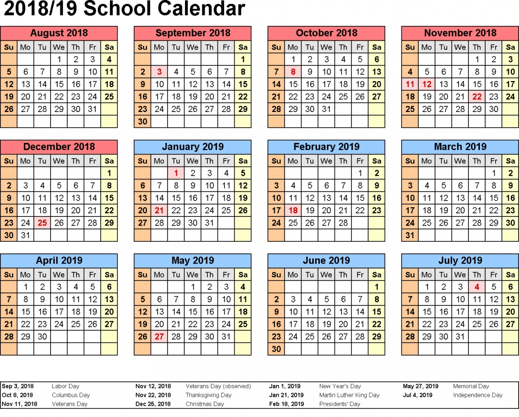 Get Free Kuwait School Holidays 2019 Printable Calendar | Holidays 2019 Calendar Qld Printable