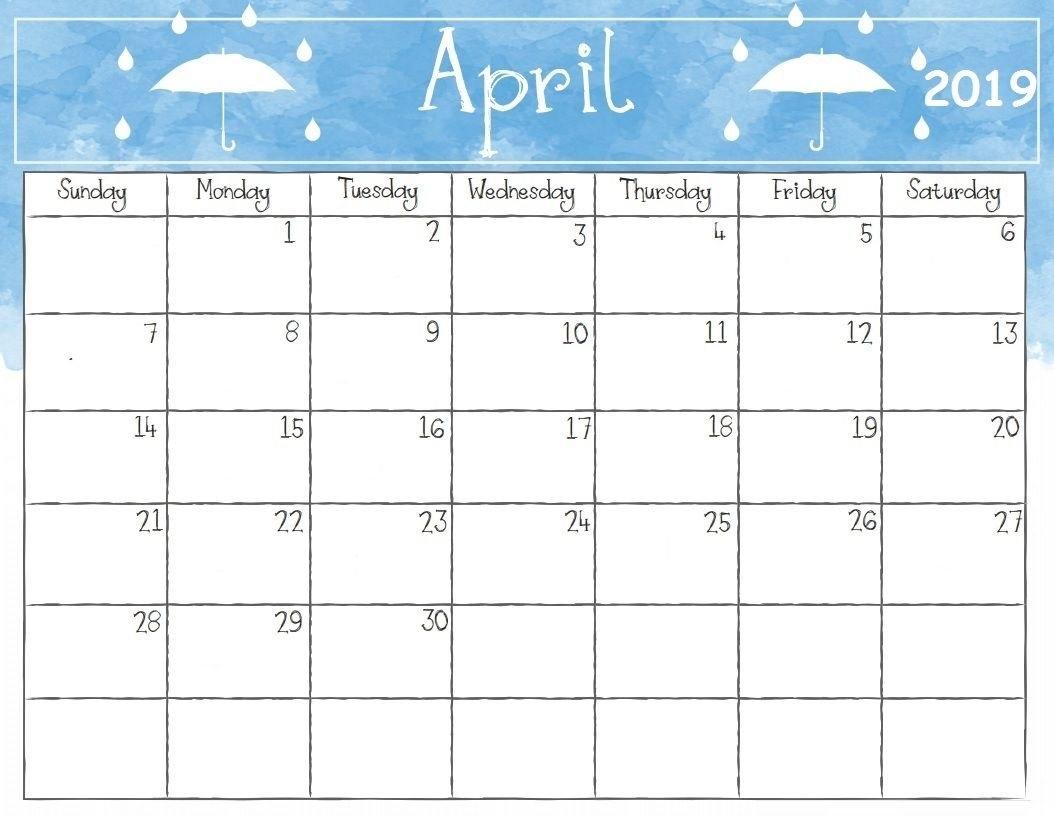 Get Free Printable April 2019 A4 Calendar Download - Blank Calendar 2019 April 9 2019 Calendar