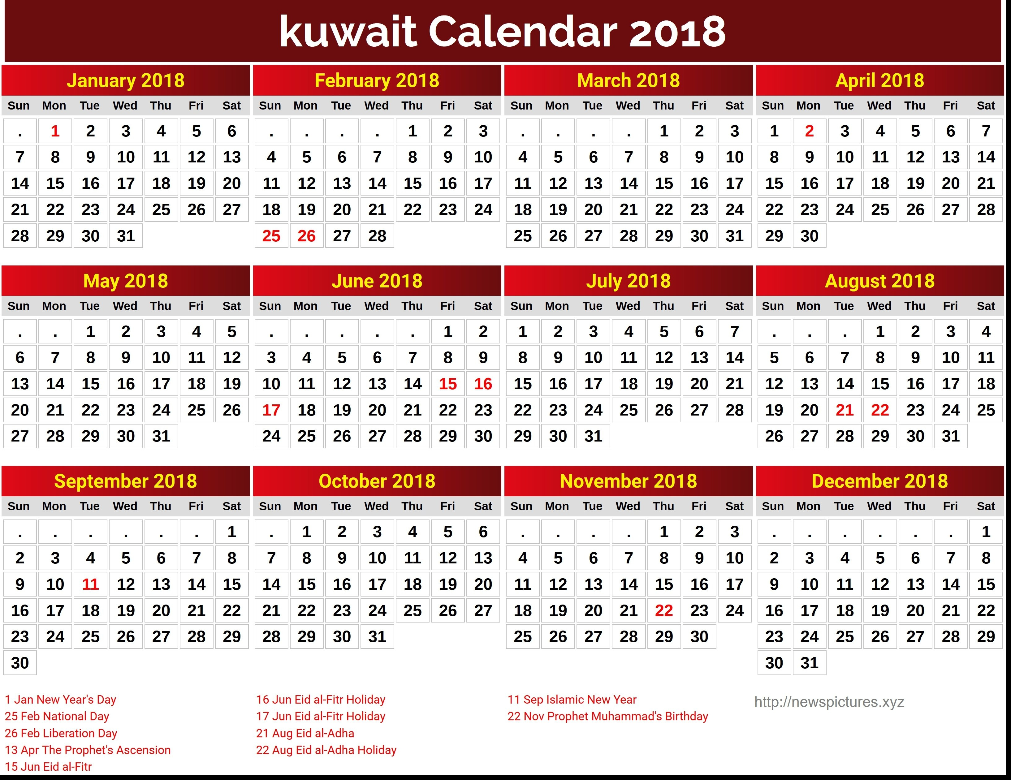 Get Template Of 2019 Calendar With Kuwait Holiday Free | July 2019 Calendar 2019 Kuwait
