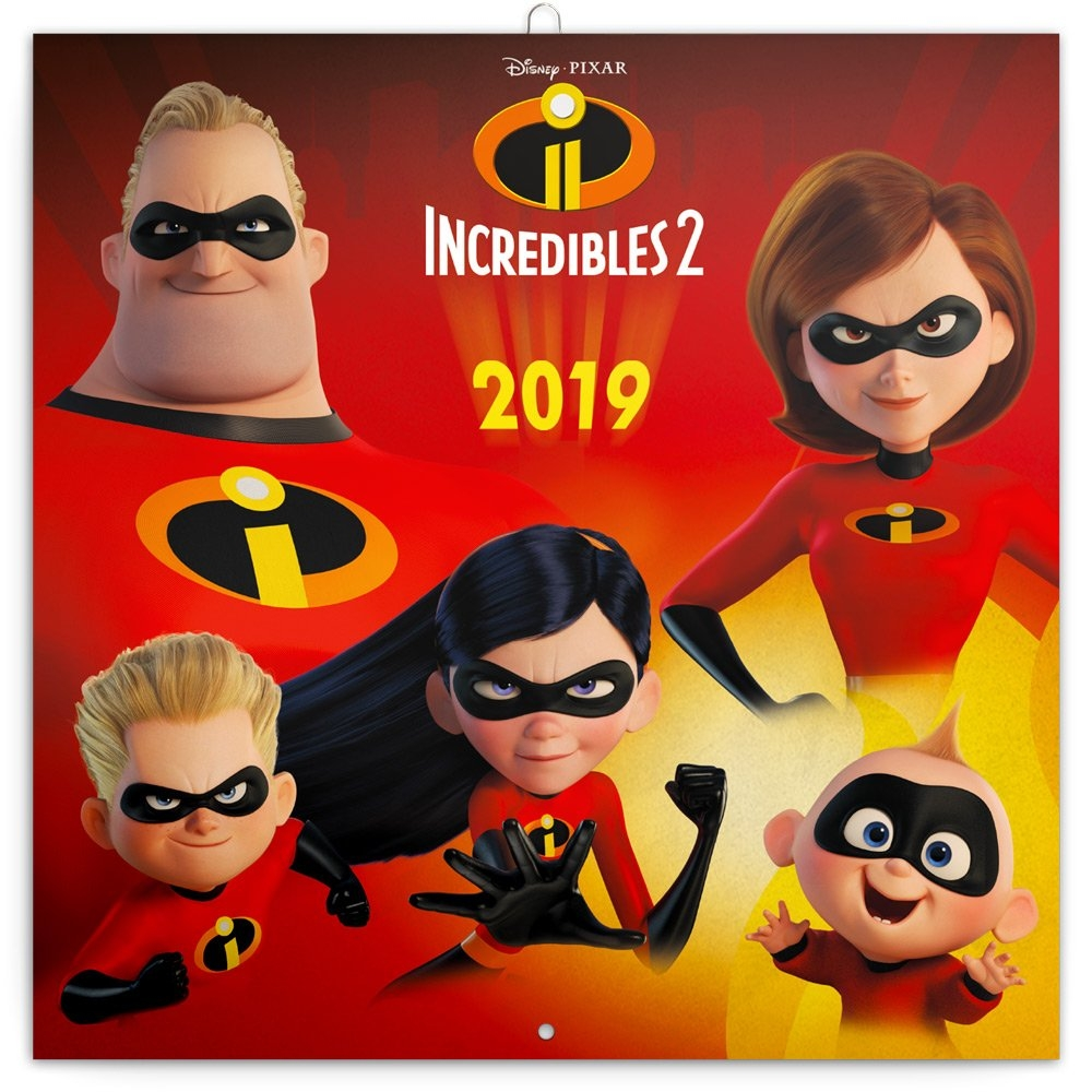Grid Calendar Incredibles 2 2019, 30 X 30 Cm | Presco.cz Incredibles 2 Calendar 2019