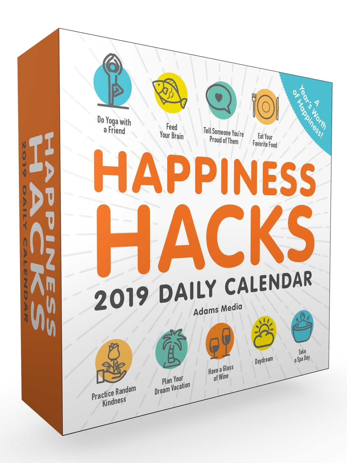 Happiness Hacks 2019 Daily Calendar - Book Summary & Video Page A Day Calendar 2019