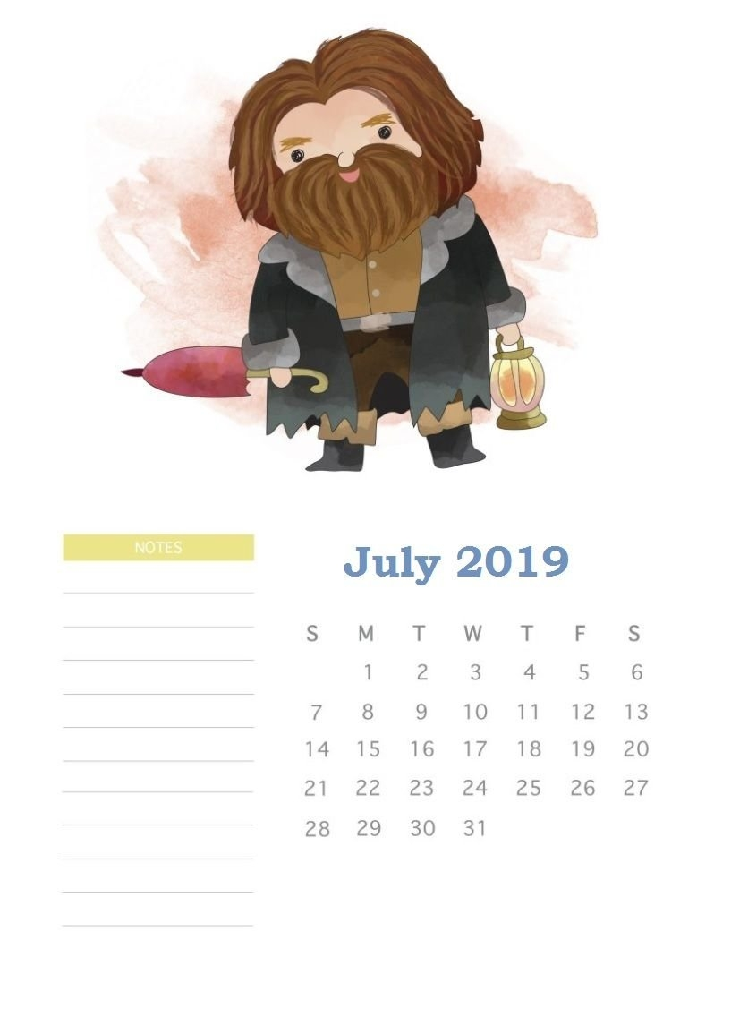Harry Potter July 2019 Calendar | Life In 2019 | Pinterest | Harry Calendar 2019 Harry Potter