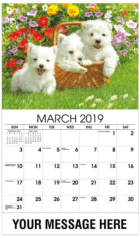 Household Pets And Animals Calendar | 65¢ Promotional Calendars In Bulk Calendar 2019 Dogs