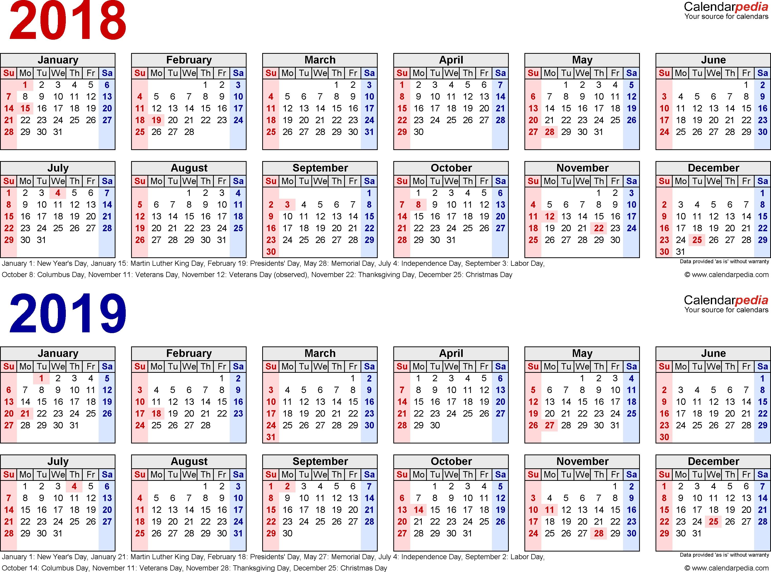 Image Result For Free Printable 2018 /2019 Calendar | Printable Calendar 2019 Za Printanje