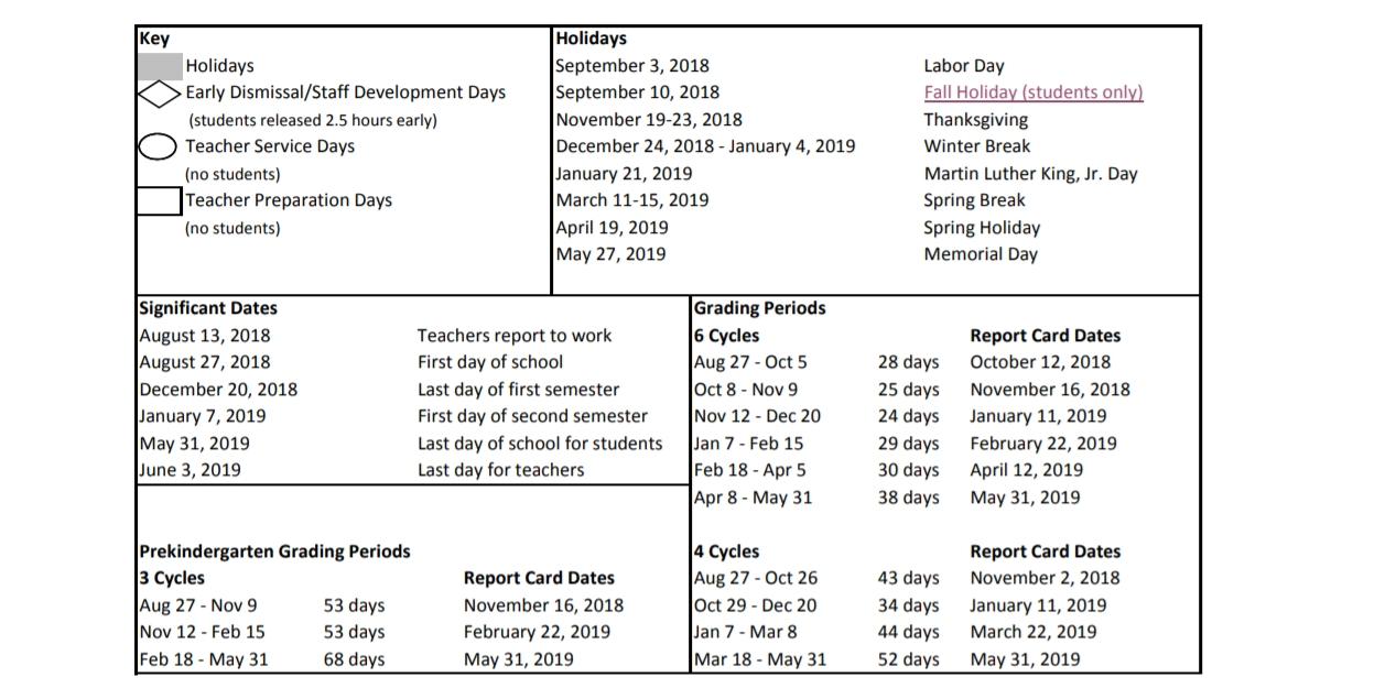 Index Of /school-District-Calendars/2018-2019/houston-Isd Calendar 2019 Hisd
