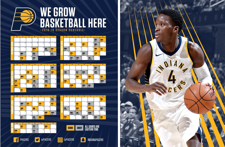 Indiana Pacers Schedule Indiana U Calendar 2019