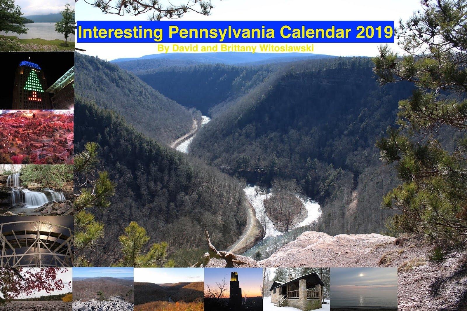 Interesting Pennsylvania And Beyond: 2019 Interesting Pennsylvania U Pitt Calendar 2019