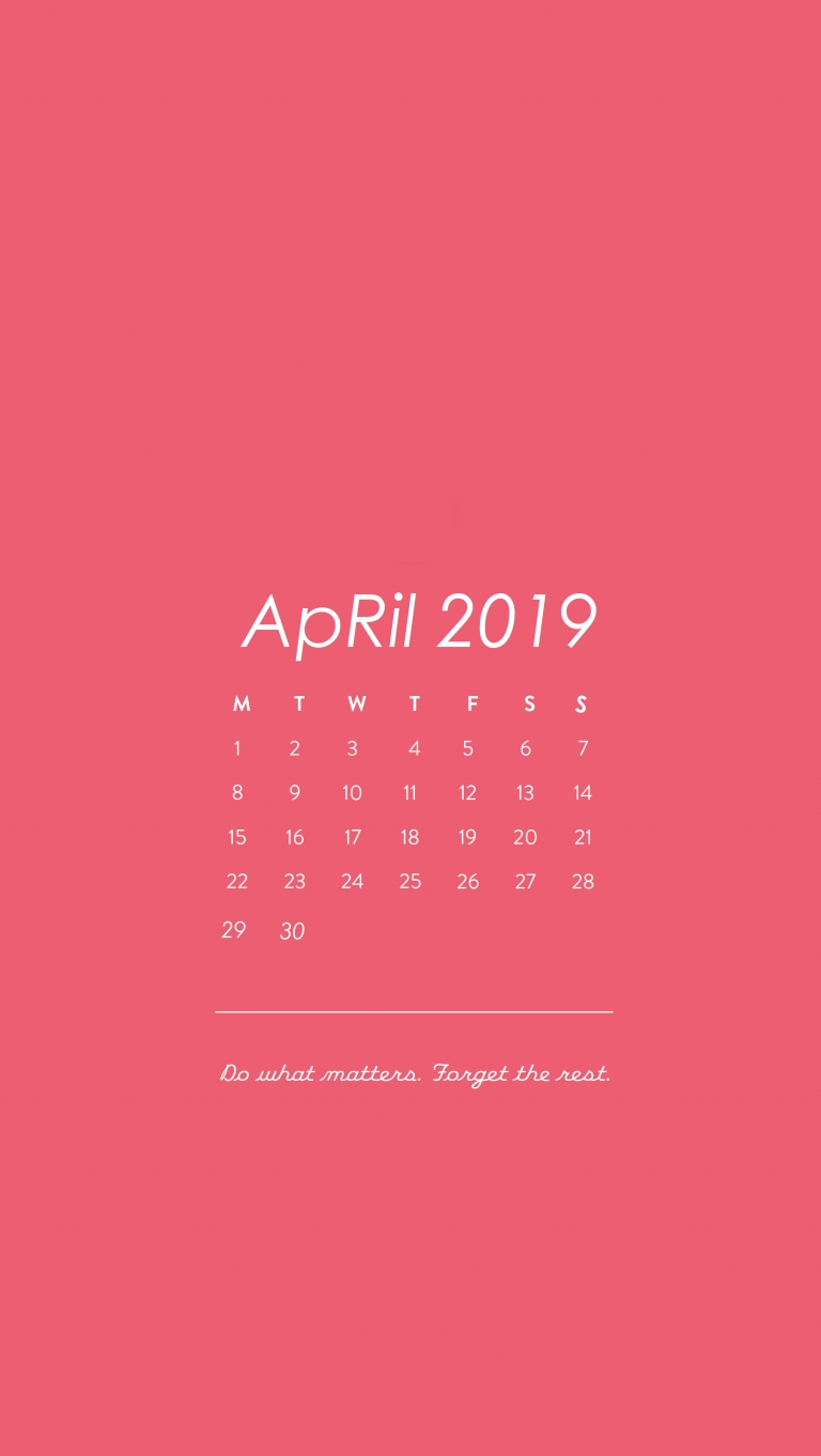 Iphone_Wallpapers_ Pink Background Calendar April 2019 | April2019 5Sos Calendar 2019