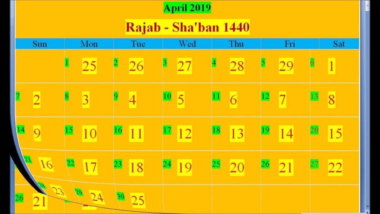 Islamic Hijri Calendar 2019 Based On Saudi Arabia - Youtube Calendar 2019 Ke