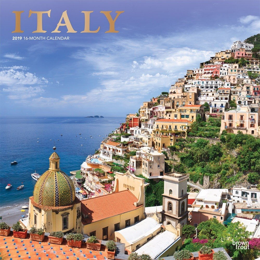 Italy 2019 12 X 12 Inch Monthly Square Wall Calendar With Foil Calendar 2019 Italy