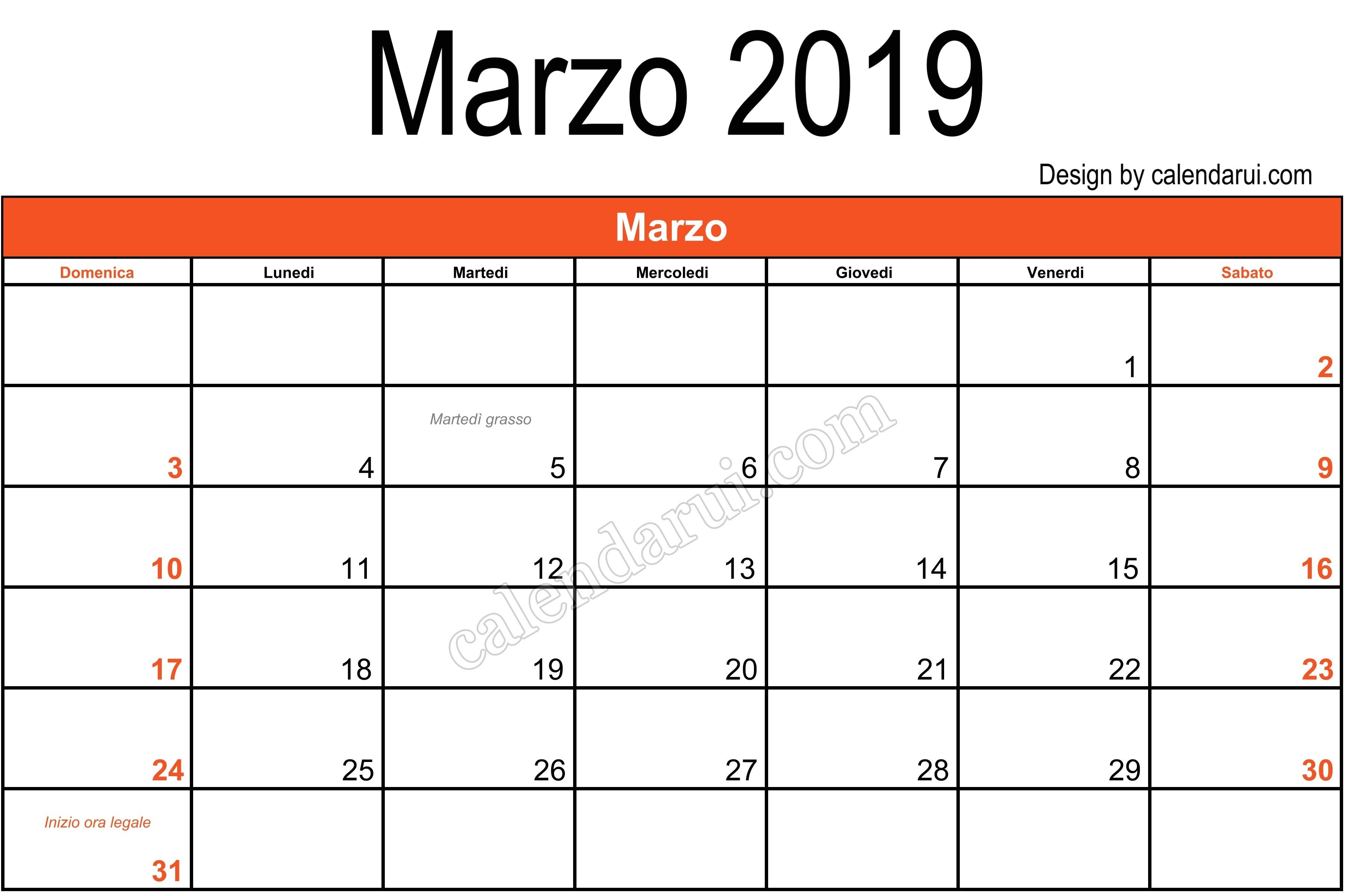 Italy Download Calendar 2019 March Template Monthly With Holidays Calendar 2019 Italy