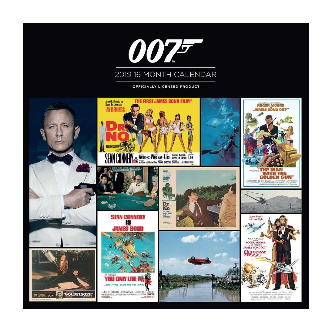 James Bond Calendar 2019 - Herocity 007 Calendar 2019