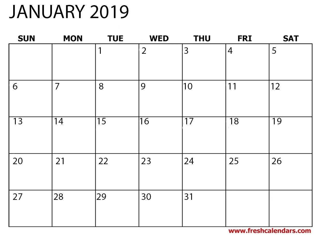 January 2019 Printable Calendars - Fresh Calendars January 5 2019 Calendar