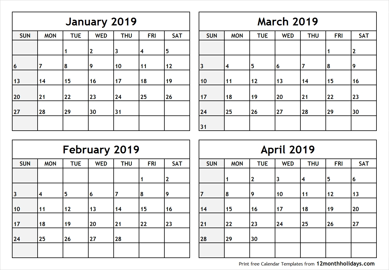 January February March 2019 Calendar | Jan Feb Mar 2019 Calendar Calendar 2019 January To March