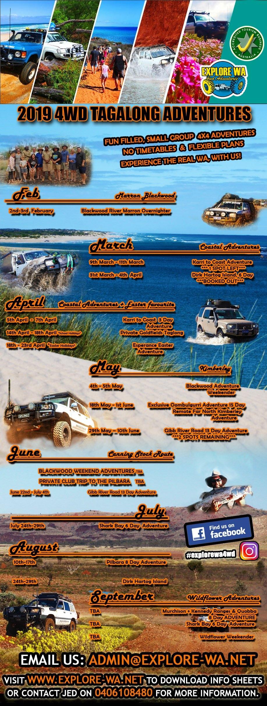 Karri To Coast 3 Day Tag-A-Long – Explore Wa 4Wd Calendar 2019