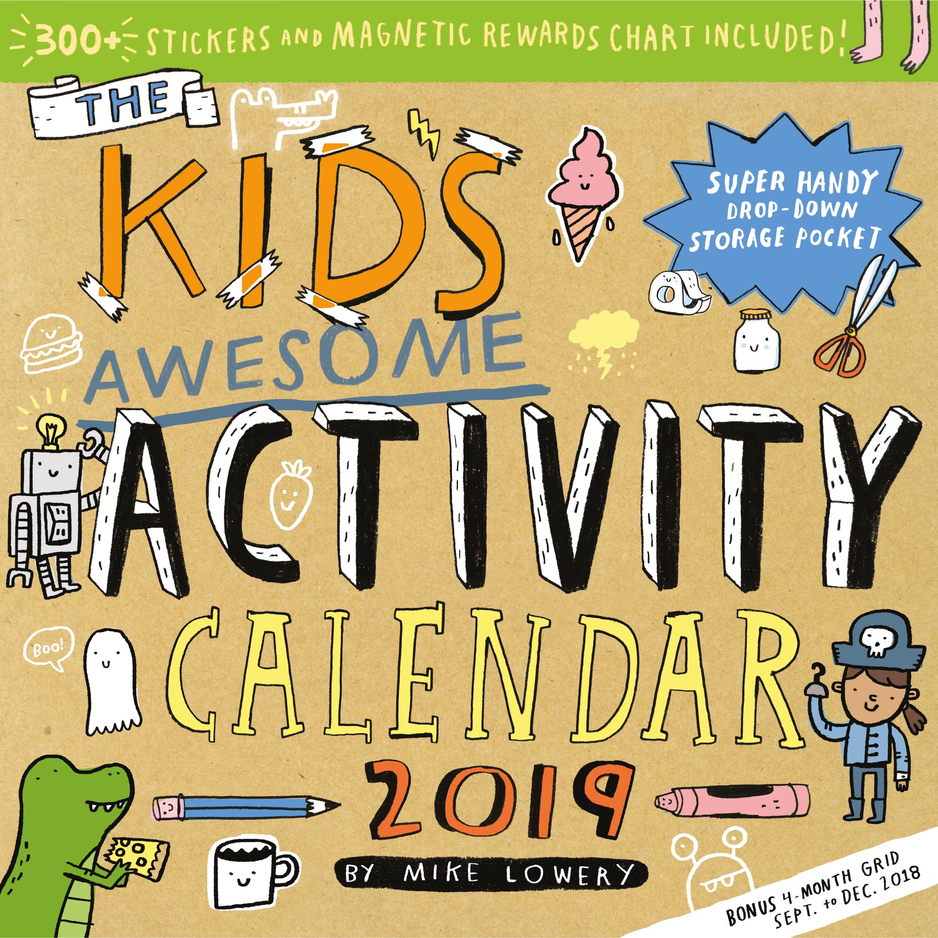 Kid's Awesome Activity Wall Calendar 2019 - Walmart Calendar 2019 At Walmart