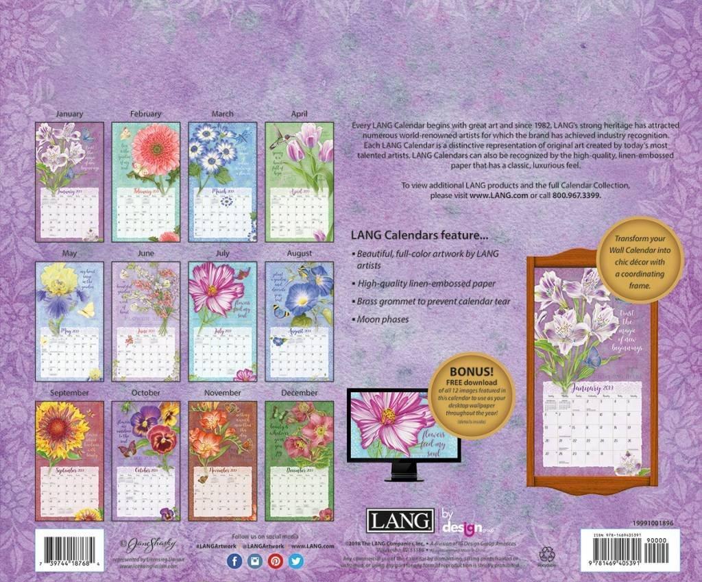 Lang Calendar 2019 Botanical Inspiration | The Lang Store Calendar 2019 Lang