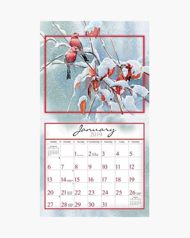 Lang Songbirds 2019 Wall Calendar | The Paper Store Calendar 2019 Lang