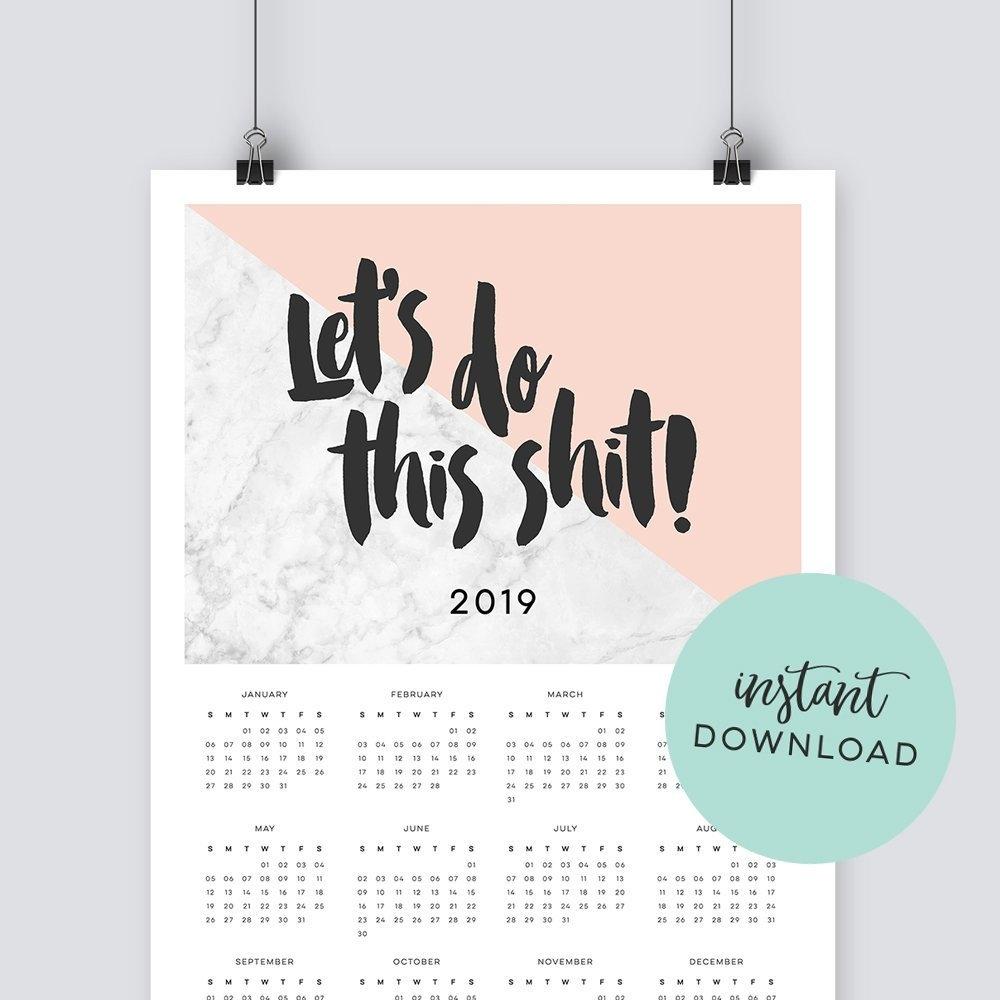Lets Do This Shit 2019 Calendar - Instant Download X Files Calendar 2019