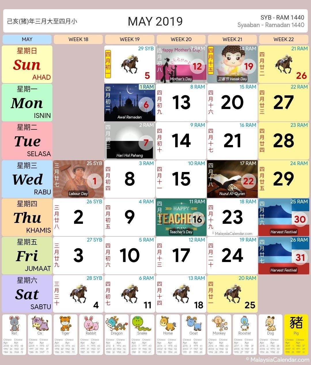 Malaysia Calendar - Blog Calendar 2019 Bulan 3