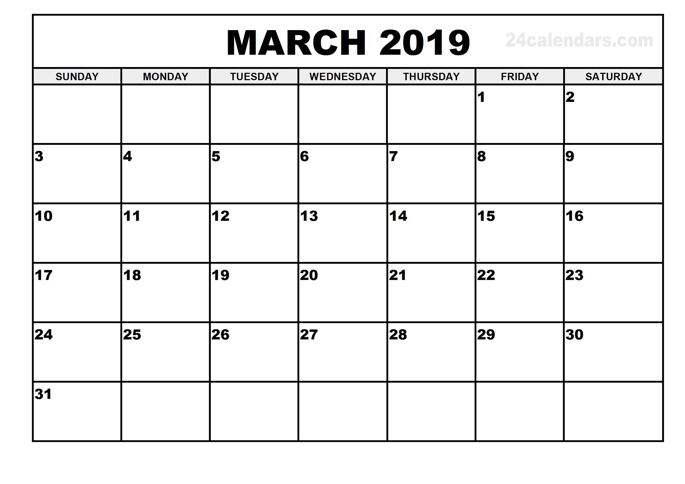 March 1 2019 Calendar | Calendar Format Example March 1 2019 Calendar