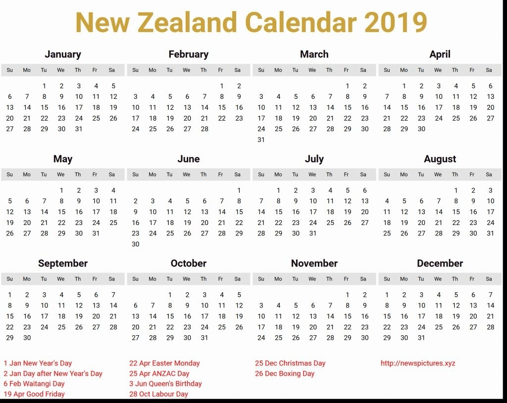 March 2019 Calendar Nz | Calendar Format Example Printable Calendar 2019 Calendar Nz