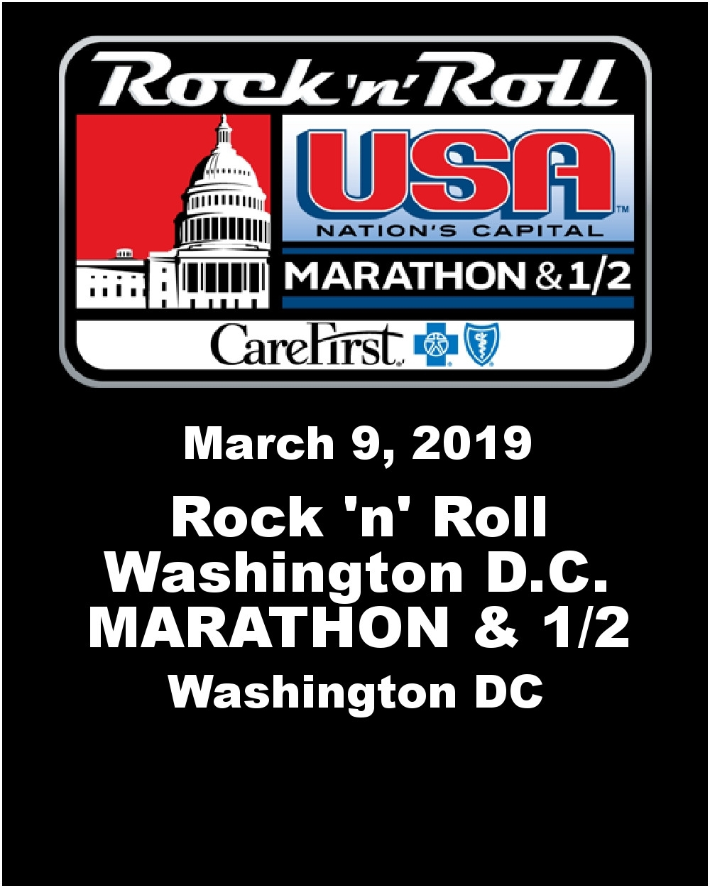 March 2019 Marathon Calendar | Template Calendar Printable Rock N Roll Calendar 2019