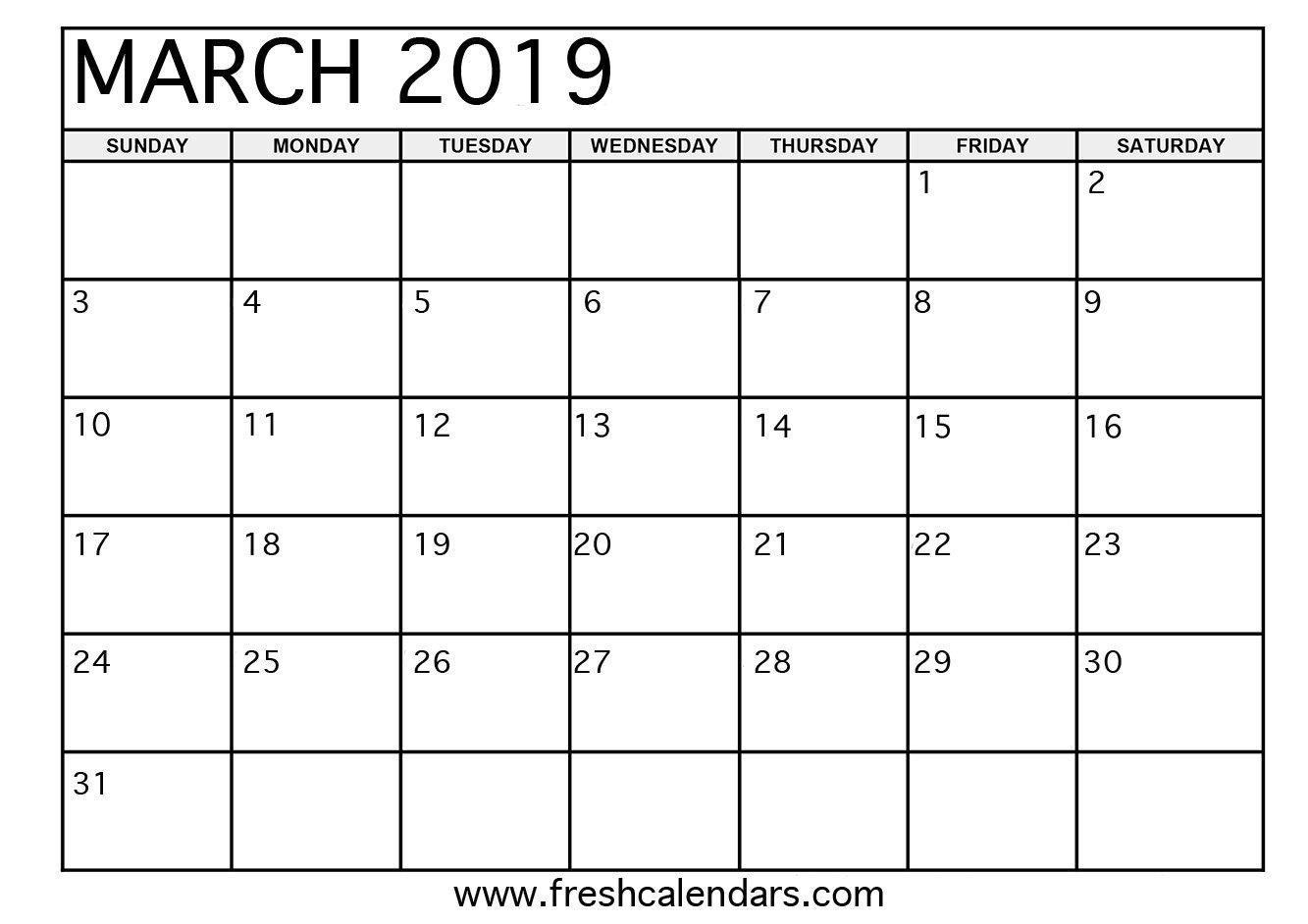 March 2019 Printable Calendars - Fresh Calendars March 7 2019 Calendar