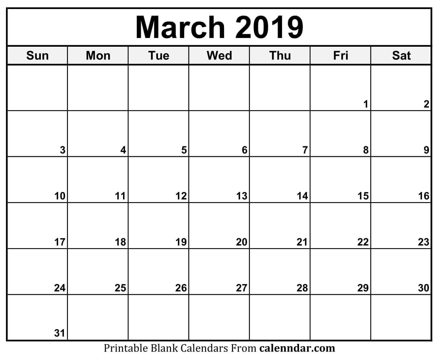 March Calendar 2019 11X17 | 2019 Calendars | Pinterest | Calendar Calendar 2019 11X17