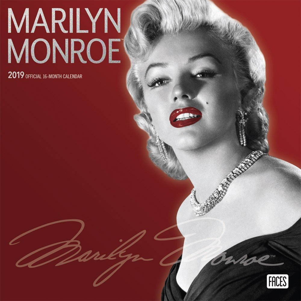 Marilyn Monroe 2019 12 X 12 Inch Monthly Square Wall Calendar With X Calendar 2019 Models