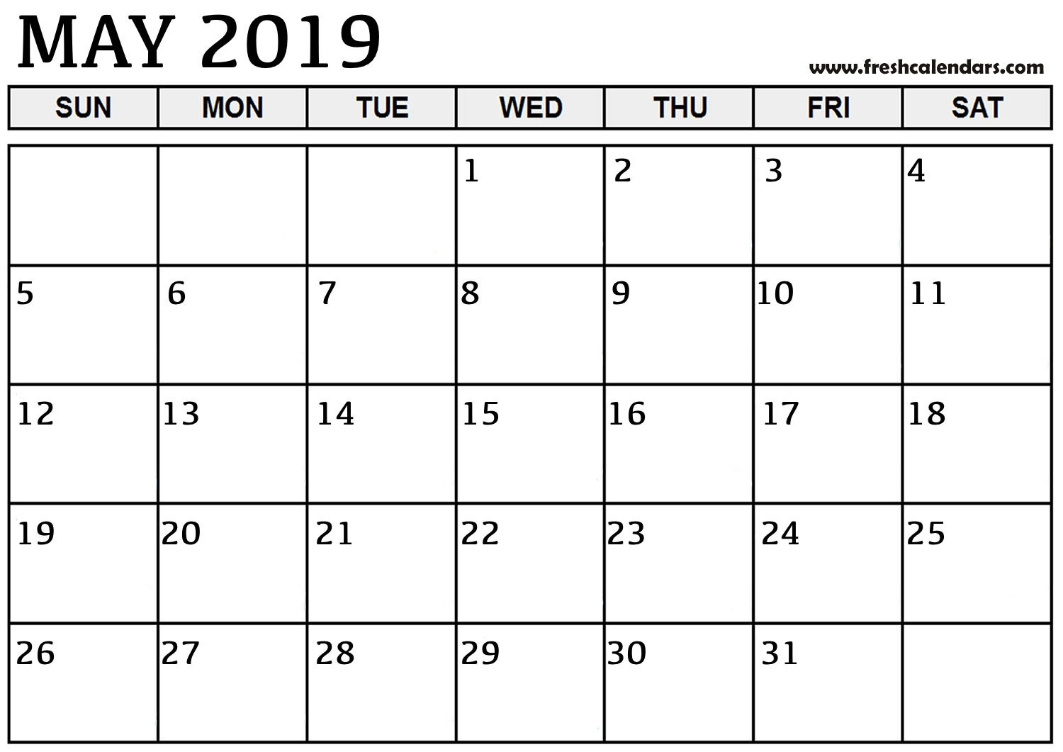 May 2019 Printable Calendars - Fresh Calendars Calendar 2019 May