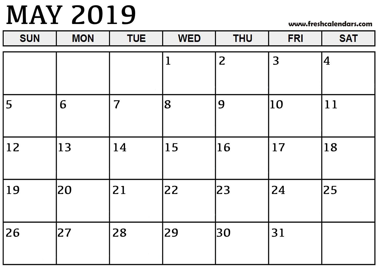May 2019 Printable Calendars - Fresh Calendars Calendar Of 2019 May