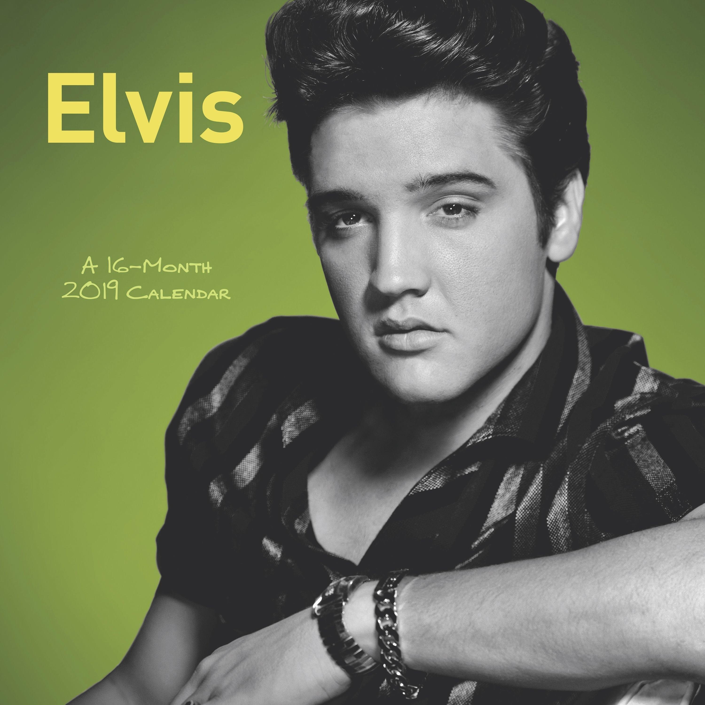 "Mead® Elvis Presley 2019 Monthly Wall Calendar, 12"" X 12"" - Walmart X Calendar 2019 Models"