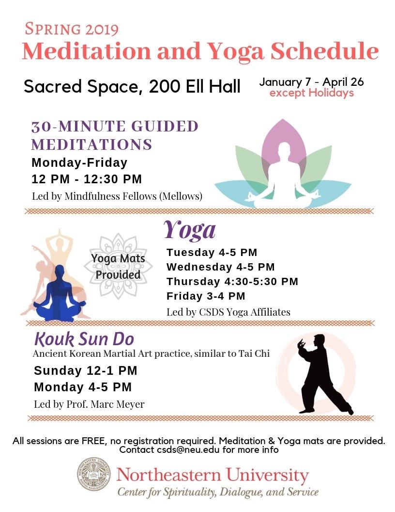 Meditation, Mindfulness, And Spiritual Practices   Spirituallife Calendar 2019 Northeastern