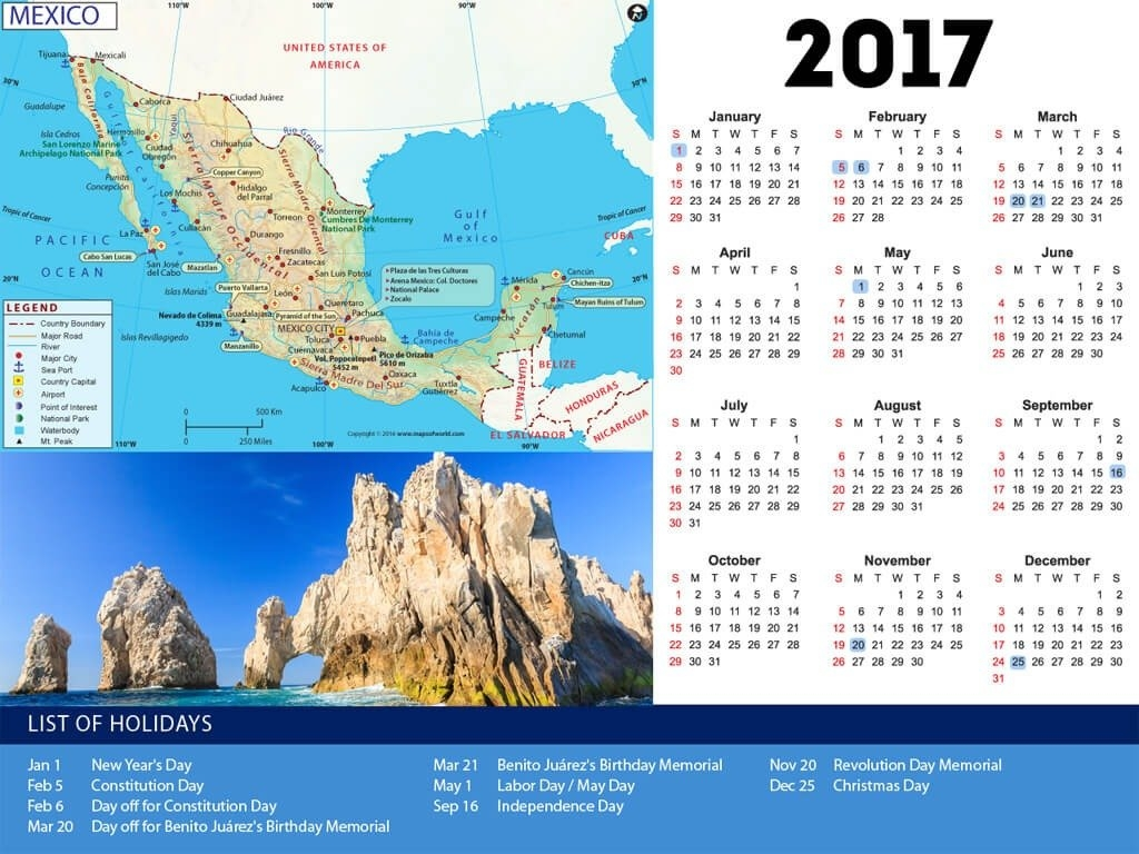 Mexico Holiday Calendar 2019 Within Mexico Holidays 2017 Calendar Calendar 2019 Mexico