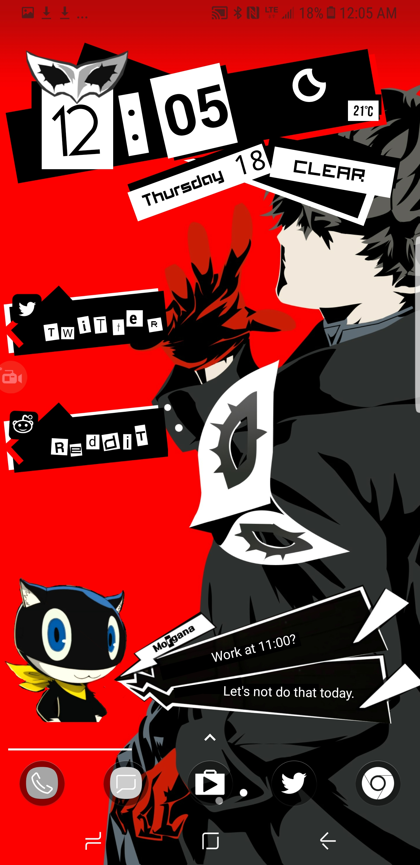 Morgana Calendar Widget For Android - Adding On To Previously Posted Persona 5 Calendar 2019