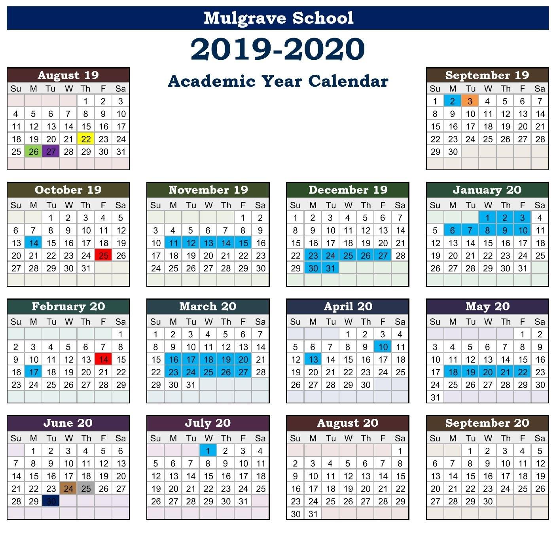 Mulgrave School - Calendars U Of W Calendar 2019