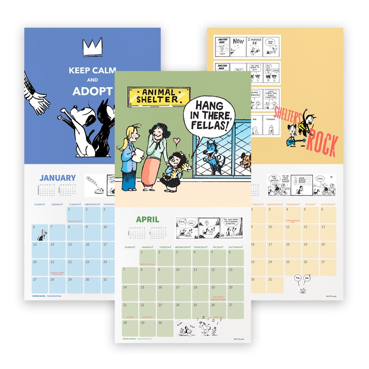Mutts 2019 Wall Calendar | Mutts Calendar 2019 On Sale