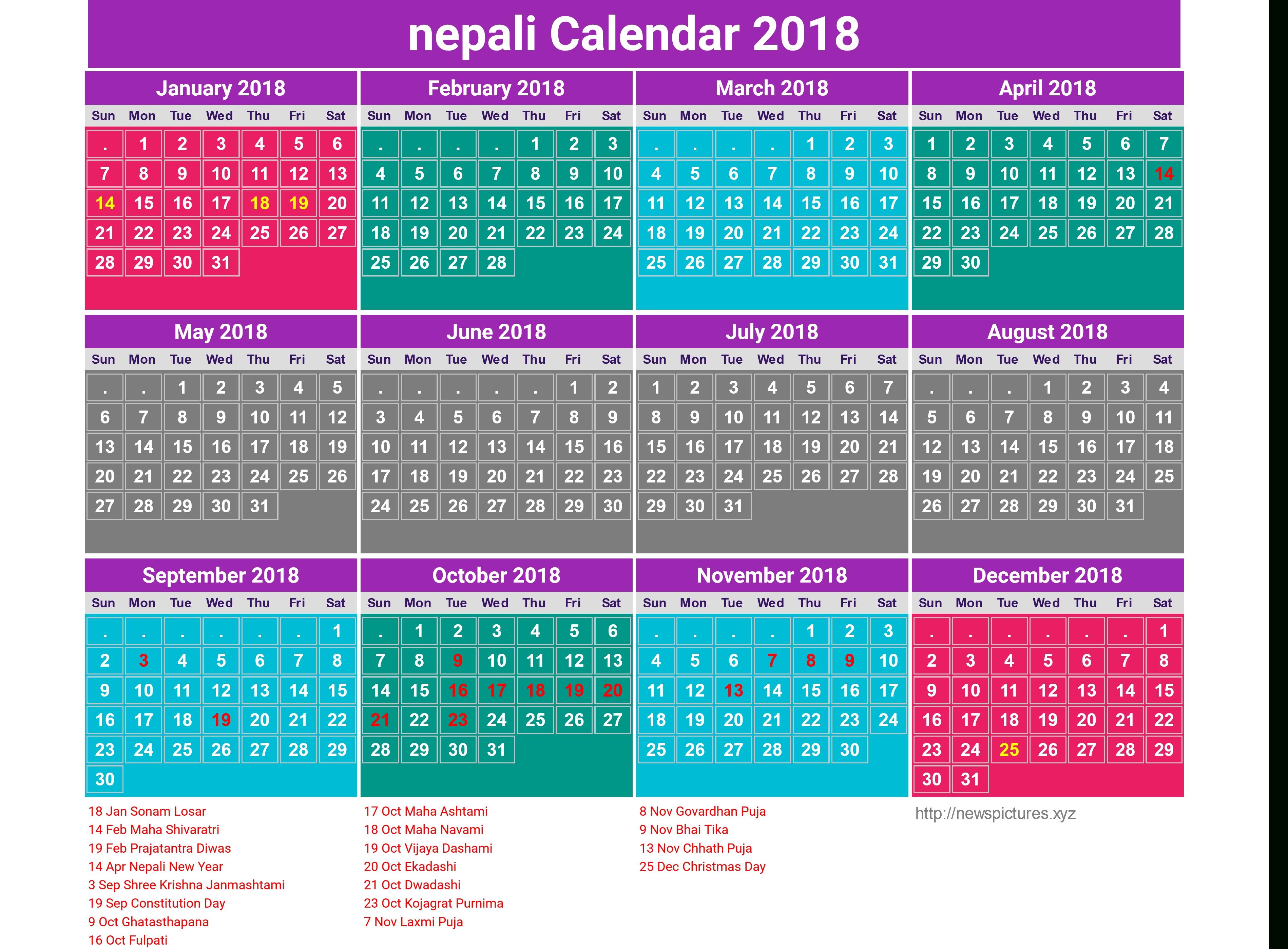 October 2018 Nepali Calendar   Monthly Calendar 2019 Calendar 2019 Nepali