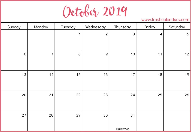 October 2019 Printable Calendars - Fresh Calendars Calendar 2019 Oct