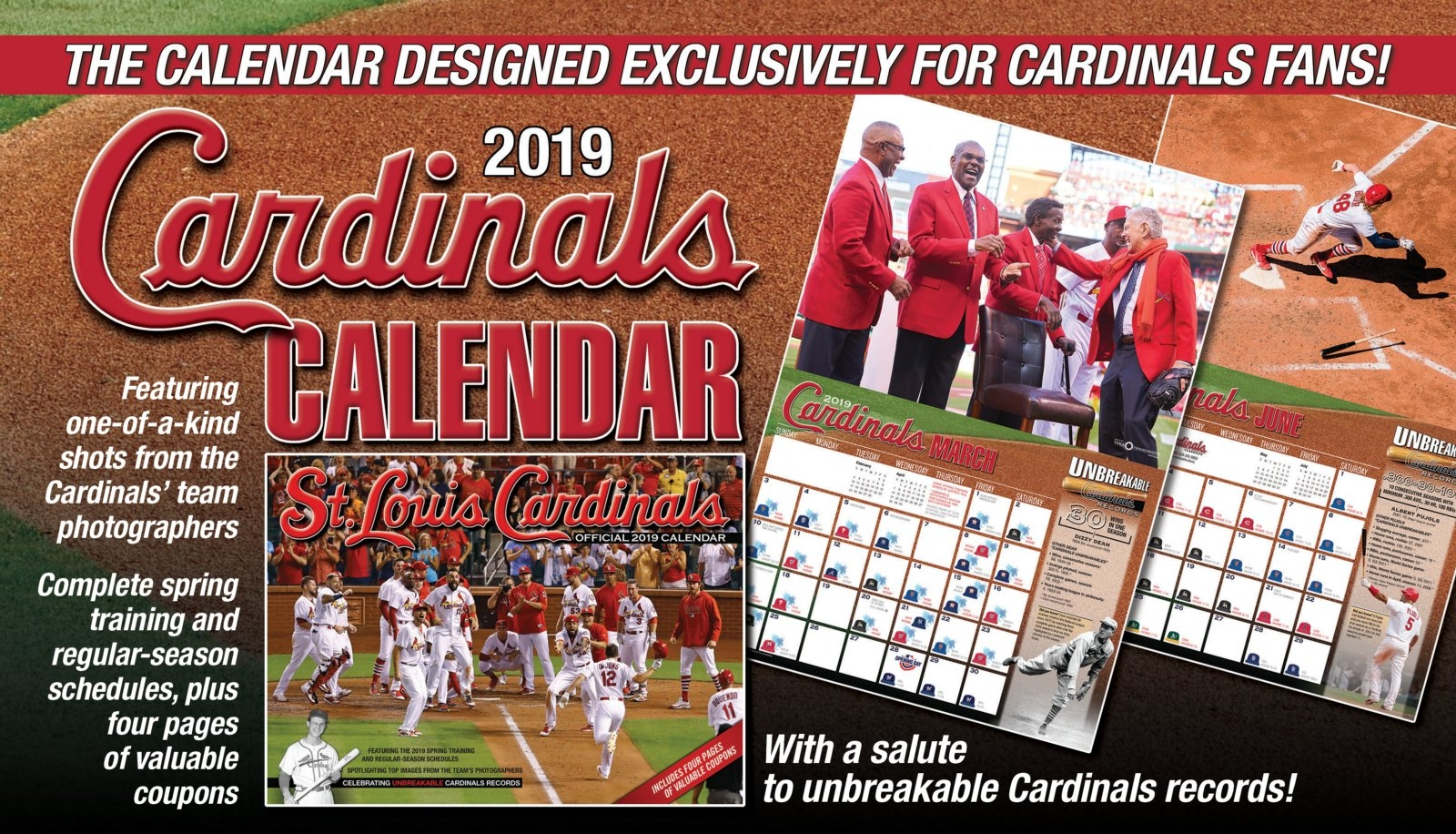 Official 2019 Cardinals Wall Calendar — On Sale Now! Calendar 2019 For Sale