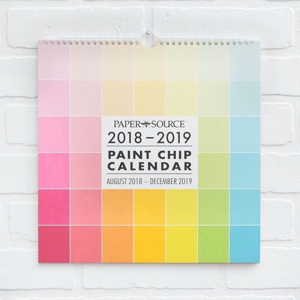Paper Source 2018-2019 Paint Chip Calendar | Paper Source Products Calendar 2019 Paper Source
