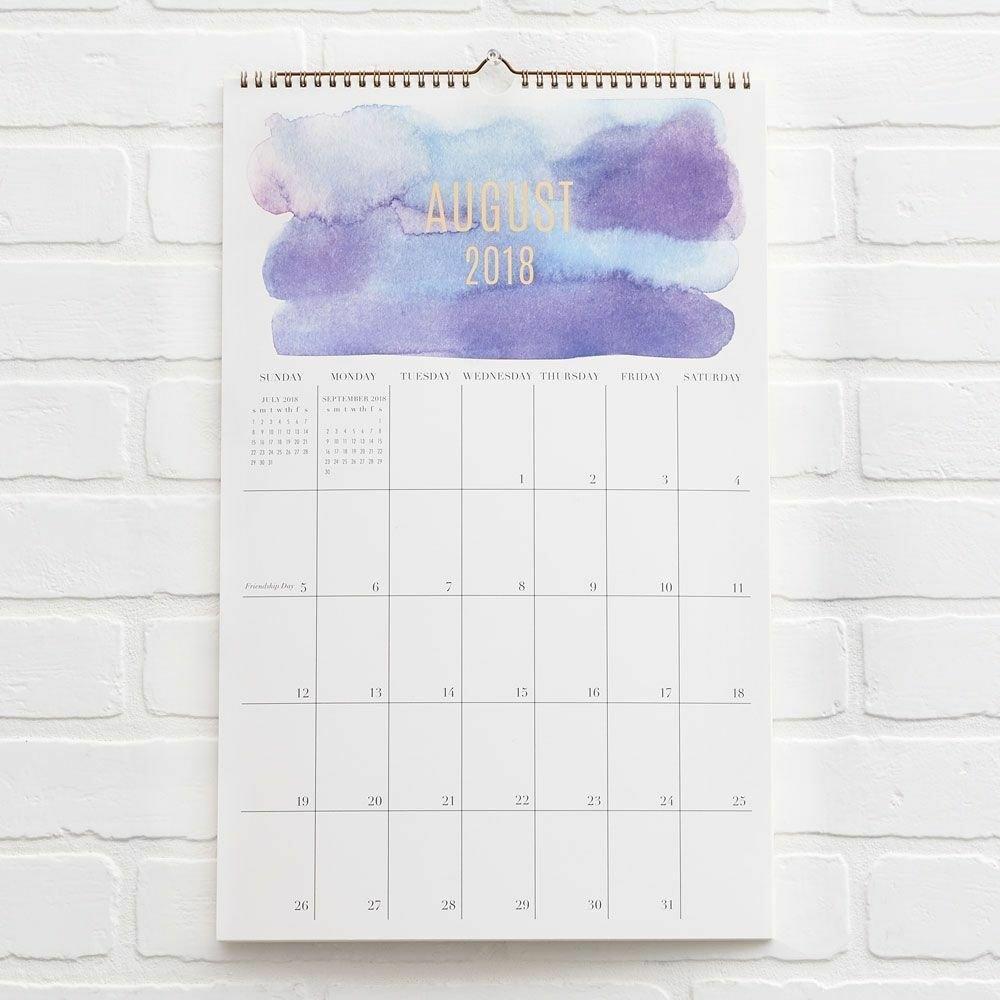 Paper Source - Calendar - 2018-2019 - Watercolor | Ebay Calendar 2019 Paper Source
