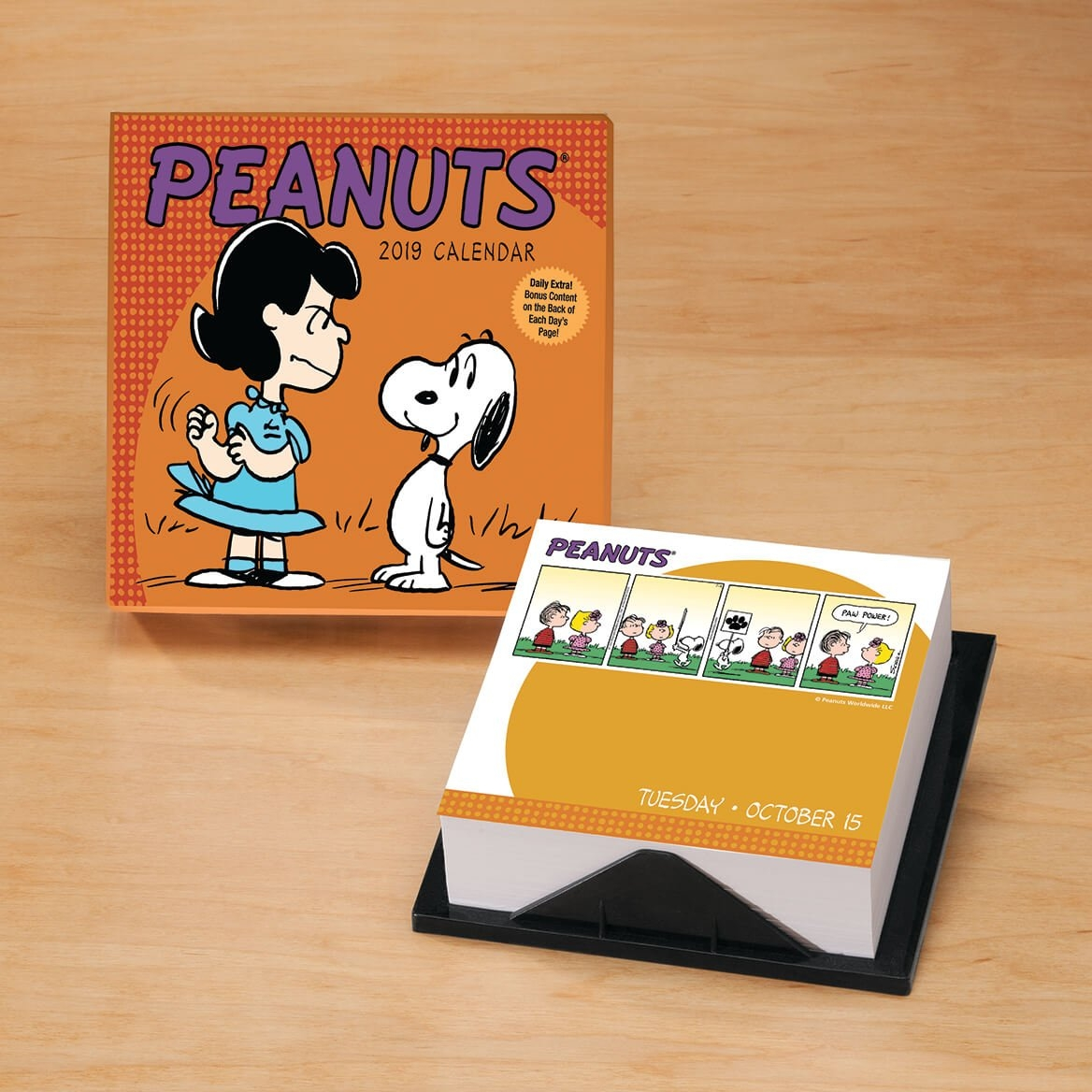 Peanuts Day-To-Day Desk Calendar - Daily Calendar - Miles Kimball Page A Day Calendar 2019